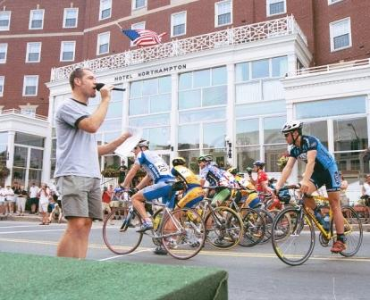 Introductions at the 2003 Downtown Northampton Criterium for Equal Access